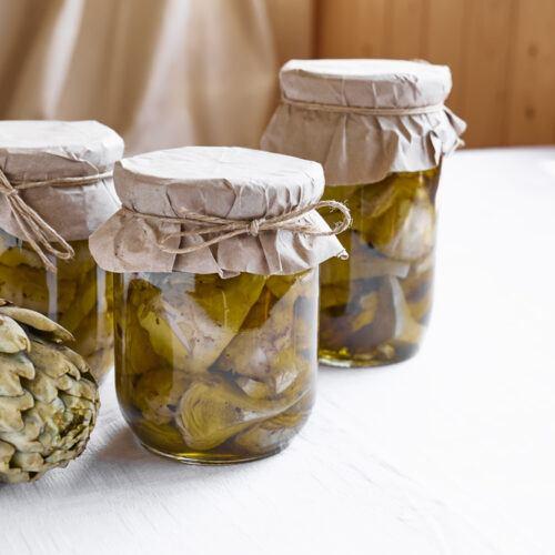 carciofini sott olio fatti in casa ricetta